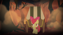 Apple Bloom walking through flame geyser swamp S4E17