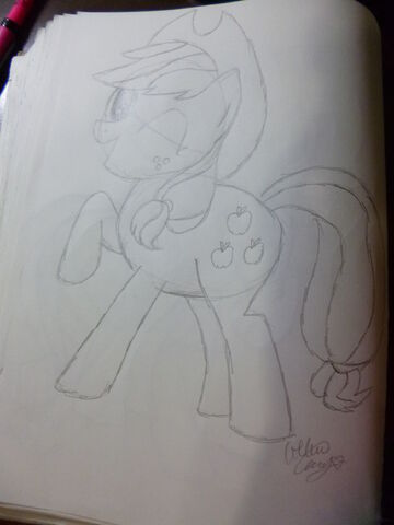 File:FANMADE Applejack sketch.jpg