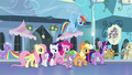 Mane 6 and Spike walk through the Empire S4E25.png