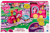 Pinkie Pie's Friendship Express Train set packaging