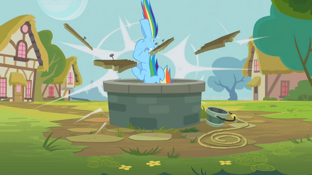 File:Rainbow Dash breaking through S2E8.png