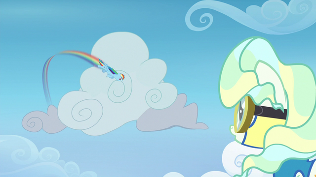 File:Rainbow Dash spiraling around a cloud S6E24.png