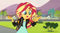 "Sunset Shimmer ""is Equestrian magic on the loose"" EG3"