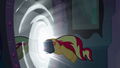 Sunset Shimmer jumps through the mirror EG.png