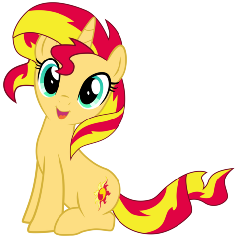 File:FANMADE Mlp sunset shimmer cute by luke262.png