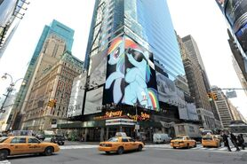 FANMADE Rainbow Dash times square advertisement