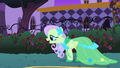 Fluttershy in party dress S1E26.png