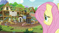 Fluttershy observing the expert ponies' progress S7E5.png