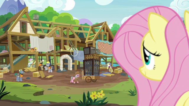 File:Fluttershy observing the expert ponies' progress S7E5.png