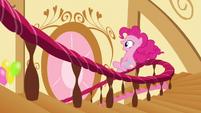 Pinkie sliding down banister S5E3