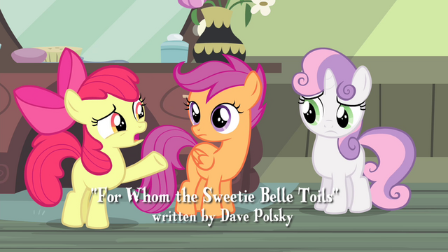 """File:Apple Bloom """"She's known about this for weeks!"""" S4E19.png"""