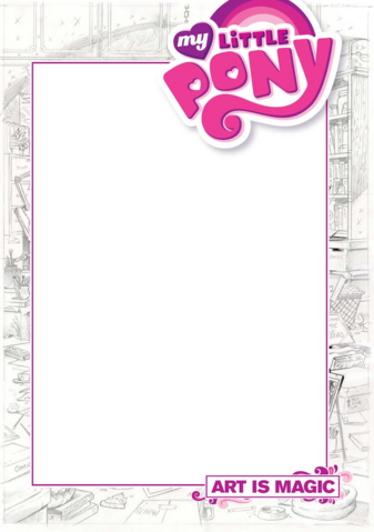 File:MLP Art is Magic! sketch cover.png