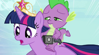 "Twilight and Spike ""almost there"" S4E01"
