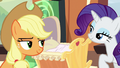 Applejack and Rarity smiling S6E1.png