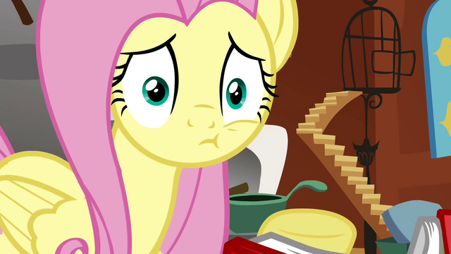 File:Fluttershy after being smacked S2E19.png