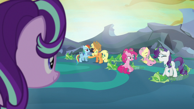 File:Main ponies freed from their cocoon cages S6E26.png
