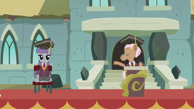 File:Maud Pie sitting on the ceremony stage S7E4.png