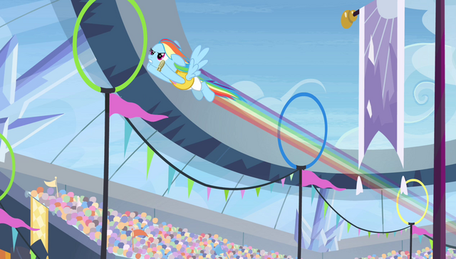 File:Rainbow Dash zooming through rings S4E24.png