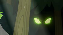 Sinister green eyes in the forest EG4