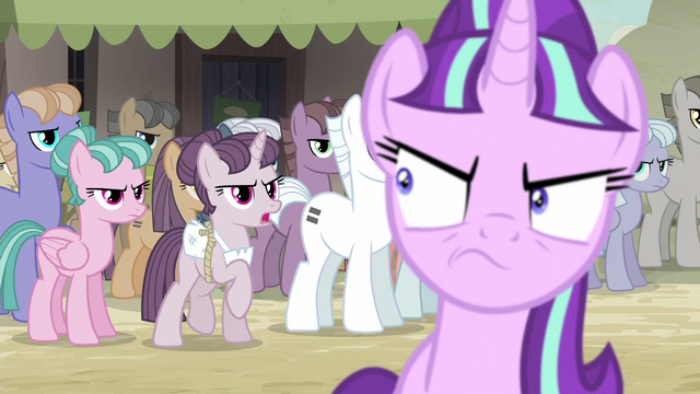 "File:Sugar Belle ""either we're all equal or none of us are!"" S5E2.png"