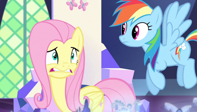 File:Fluttershy rethinks staying with Spike S5E1.png