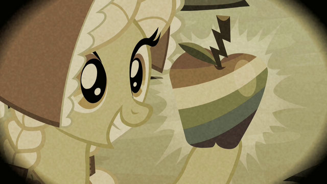 Datei:Granny Smith holding up a Zap Apple S2E12.png