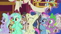 Ponies cheer for Cranky Doodle and Matilda S5E9.png