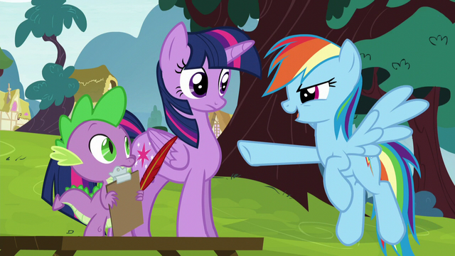 "File:Rainbow Dash ""it chased after us!"" S5E22.png"