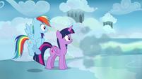 Sky speeds away from Twilight and Rainbow again S6E24