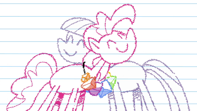 File:Drawing of Pinkie and Maud hugging together S4E18.png
