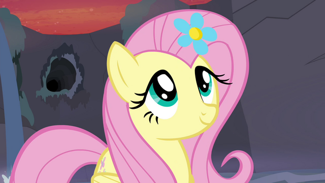 File:Fluttershy with flower in her mane S4E16.png