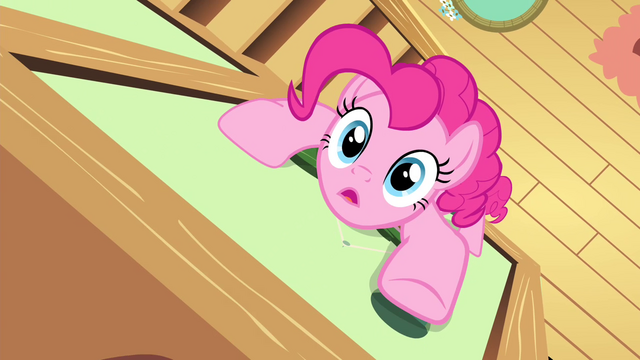 File:Pinkie Pie climbing up the wall S4E14.png