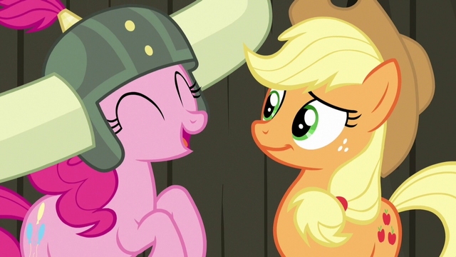 File:Pinkie Pie laughing at Applejack S7E11.png