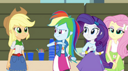 Rainbooms walk over to the Dazzlings EG2