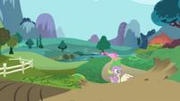 Spike walking over hill S1E01