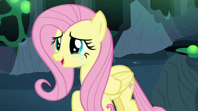 File:Fluttershy Changeling happy to see Discord S6E26.png