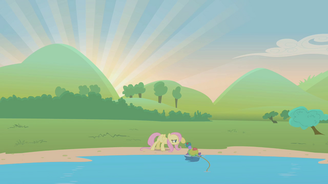 File:Fluttershy prodding at turtle S1E05.png