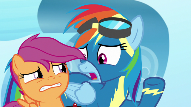 """File:Rainbow Dash """"not just shown up!"""" S7E7.png"""