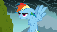 A grumpy Rainbow Dash S01E07