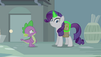"Rarity ""and the book, of course"" S4E23"