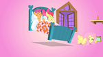 Scootaloo and Apple Bloom hopping in bed S01E17