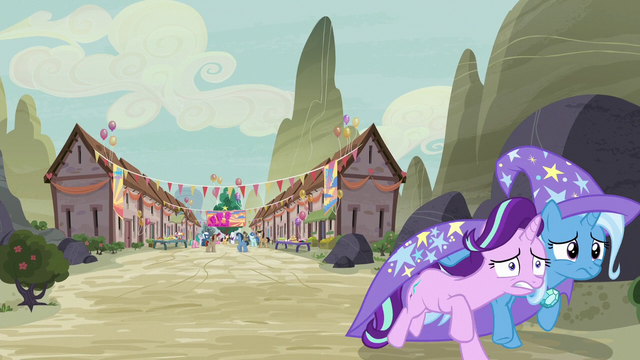 File:Starlight and Trixie run away from the village S6E25.png