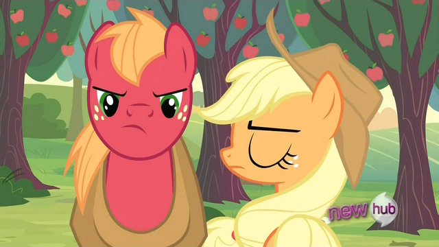 File:Angry Applejack and Big McIntosh S2E23.png