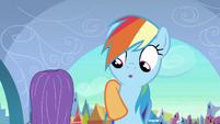 Applejack puts hoof around Rainbow S3E2
