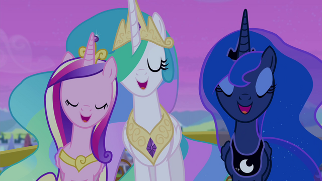 File:Celestia, Luna, and Cadance singing together S4E25.png