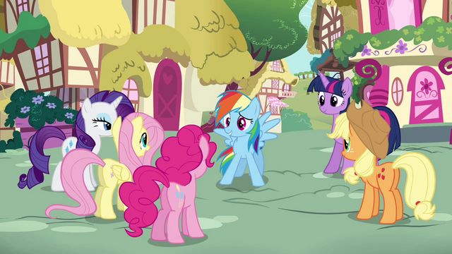 File:Rainbow Dash thanking her friends S4E21.png