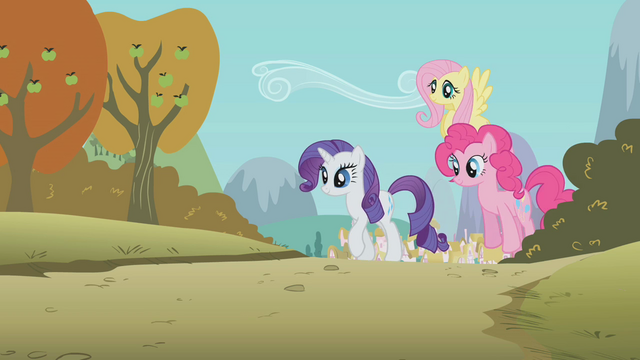 File:Rarity, Pinkie & Fluttershy S1E13.png