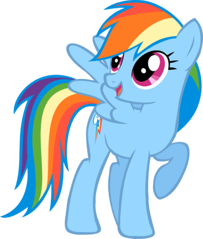 File:FANMADE Rainbow Dash vector.png