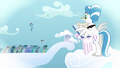 Filly Rainbow Dash jumps from the crowd S03E12.png
