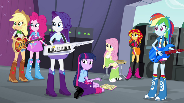 File:Main cast and Sunset hears Trixie EG2.png